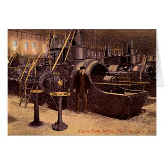 Gary, Indiana Engine Room Steel Plant 1910 Card