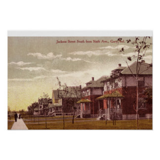 Gary, Indiana Jackson Street 1915 Poster