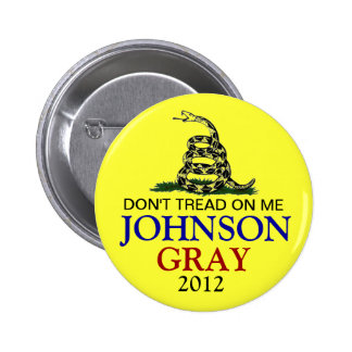 GARY JOHNSON 2012 PINBACK BUTTONS