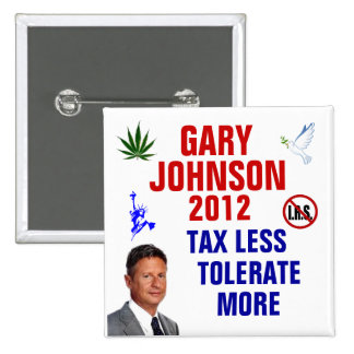 Gary Johnson 2012 Pin