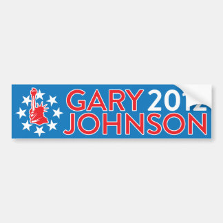 Gary Johnson 2012 Car Bumper Sticker