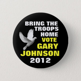 Gary Johnson 2012 peace Pinback Button