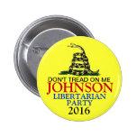 GARY JOHNSON 2016 2 INCH ROUND BUTTON