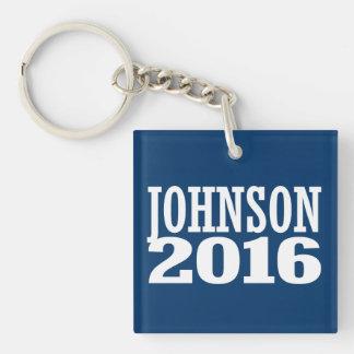 Gary Johnson 2016 Llavero Cuadrado Acrílico A Doble Cara