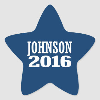 Gary Johnson 2016 Pegatina En Forma De Estrella