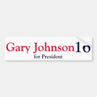 Gary Johnson 2016 Pegatina Para Auto