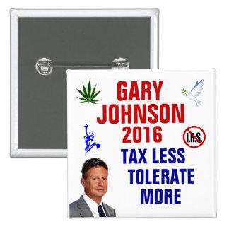 Gary Johnson 2016 Pin Cuadrado