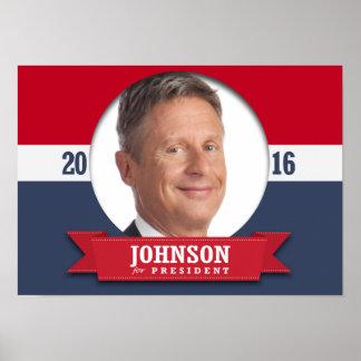 GARY JOHNSON 2016 PÓSTER