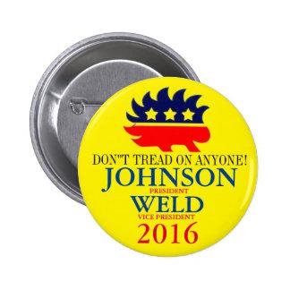 Gary Johnson/Bill Weld 2016 Button