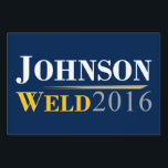 "Gary Johnson - Bill Weld 2016 Campaign Logo Sign<br><div class=""desc"">Gary Johnson - Bill Weld Campaign Logo 2016. Gary Johnson for President.</div>"