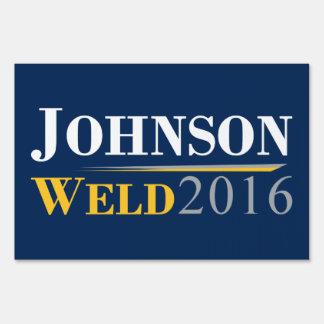 Gary Johnson - Bill Weld 2016 Campaign Logo Sign