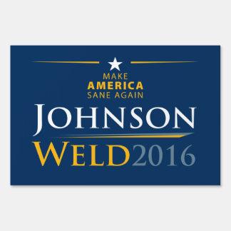 Gary Johnson + Bill Weld Sign