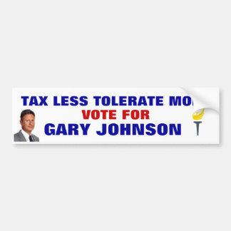 GARY JOHNSON BUMPER STICKER 2016