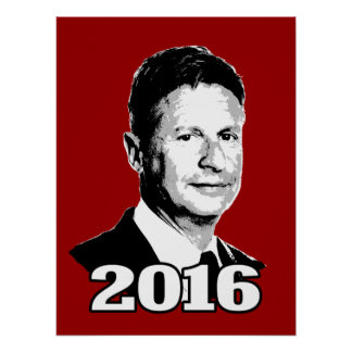 Gary Johnson Bust - Poster