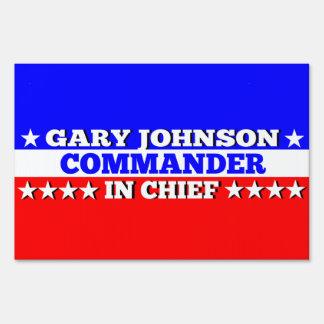Gary Johnson Commander in Chief Yard Sign