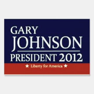 Gary Johnson for President 2012 yard sign