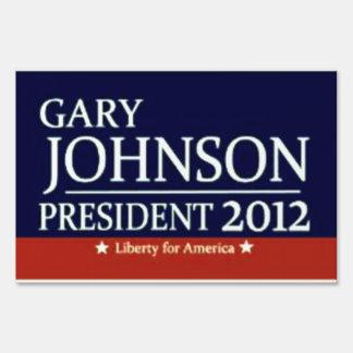 Gary Johnson for President 2012 yard sign