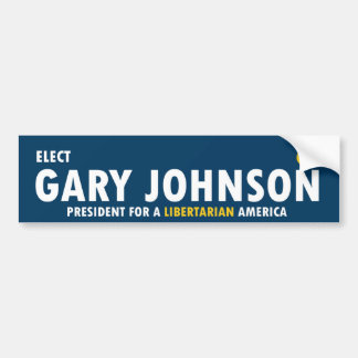 Gary Johnson for President 2016 Libertarian Bumper Sticker