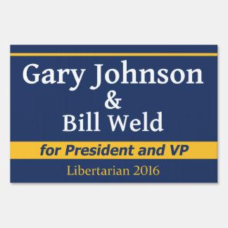 Gary Johnson for President - 2016 Yard Sign