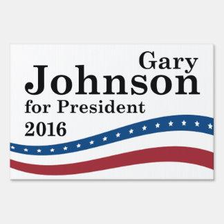 Gary Johnson For President Lawn Sign