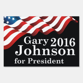 Gary Johnson For President Sign