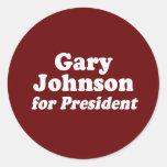 GARY JOHNSON FOR PRESIDENT STICKER