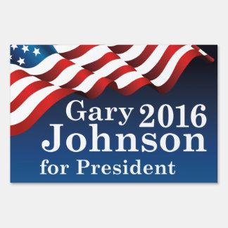 Gary Johnson For President Yard Sign