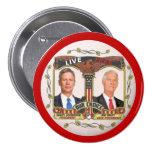 Gary Johnson/gris de Jim en 2012 Pin Redondo 7 Cm