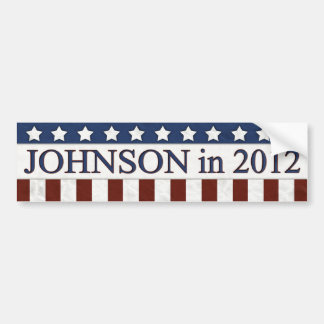 Gary Johnson in 2012 Bumper Sticker