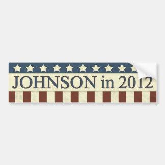 Gary Johnson in 2012 Car Bumper Sticker