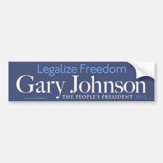 Gary Johnson Legalize Freedom Bumper Sticker Car Bumper Sticker