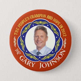 Gary Johnson Libertarian for President 2012 Pinback Button