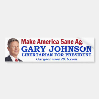 "Gary Johnson - ""Make America Sane Again!"" Bumper Sticker"