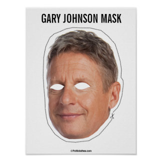 Gary Johnson Mask Cutout Poster