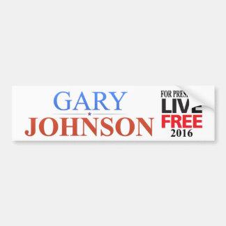 Gary Johnson para el presidente - 2016 - pegatina  Pegatina Para Auto