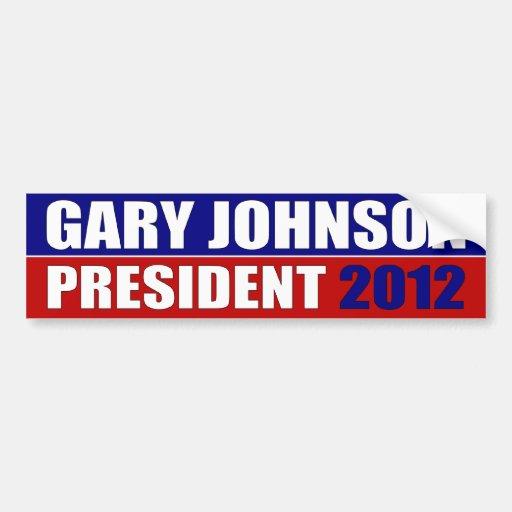 Gary Johnson para el presidente Etiqueta De Parachoque