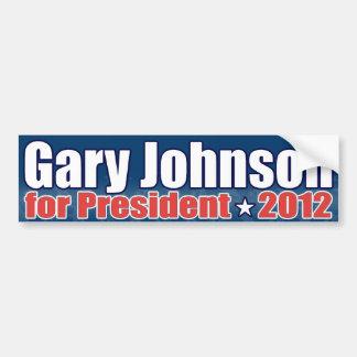 Gary Johnson para el presidente Pegatina Para Auto