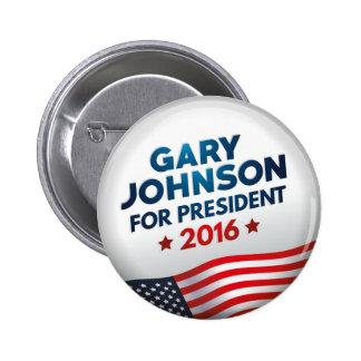 Gary Johnson para el presidente Pin Redondo De 2 Pulgadas