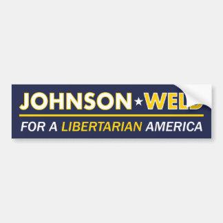 Gary Johnson/pegatina para el parachoques del Pegatina Para Auto