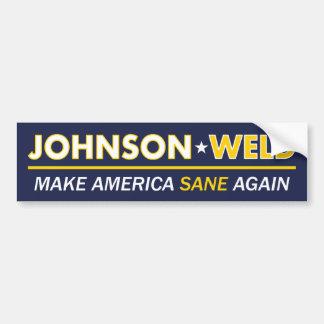 Gary Johnson/pegatina para el parachoques sana de Pegatina Para Auto