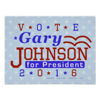 Gary Johnson President 2016 Election Libertarian Poster