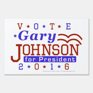 Gary Johnson President 2016 Election Libertarian Yard Sign