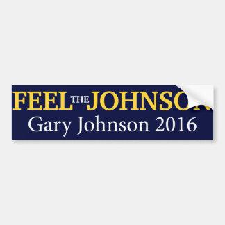 Gary Johnson - sienta a la pegatina para el Pegatina Para Auto