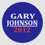 Gary Johnson Stickers