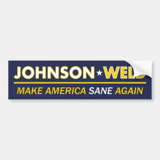 Gary Johnson / Weld Sane America Bumper Sticker