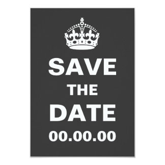 Gary Keep Calm and Save the Date Card