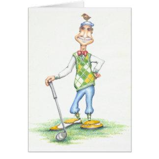 Gary la tarjeta de felicitación del golfista