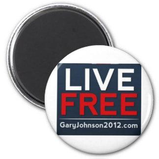 Gary libre viva Johnson para el presidente 2012 Imán De Frigorifico