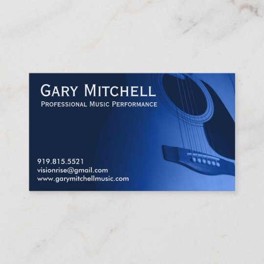 gary mitchell music business card - Music Business Cards