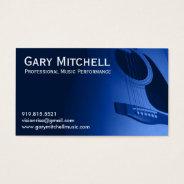 Gary Mitchell Music Business Card at Zazzle